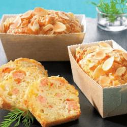 Cake au saumon et petits légumes