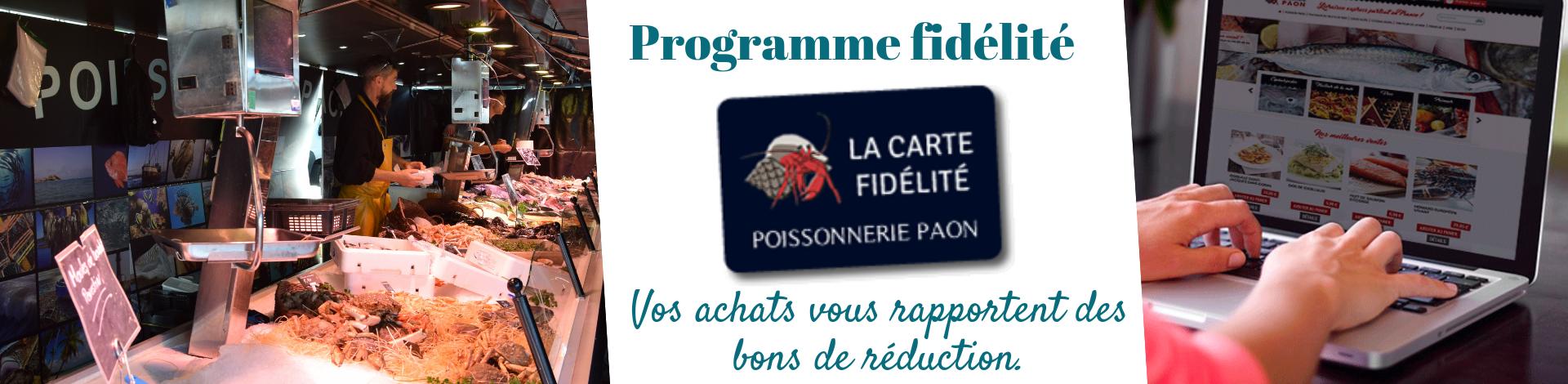 Programme fidélité poissonnerie paon